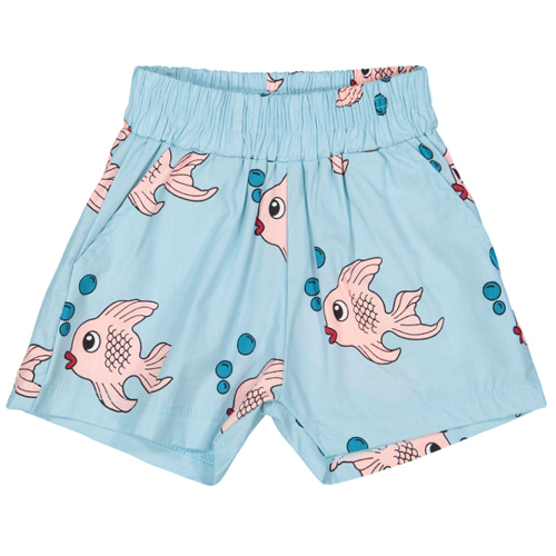 Summer Woven Shorts-blue fish