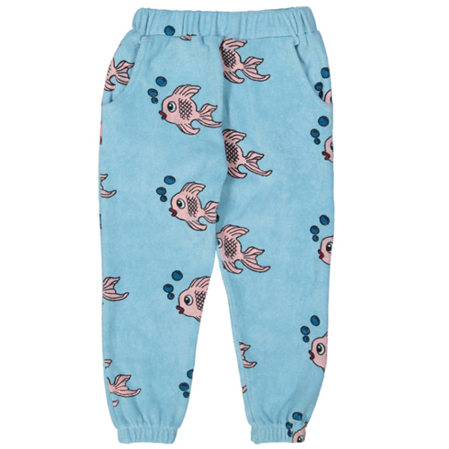 Terry 80's sweat pants-blue fish